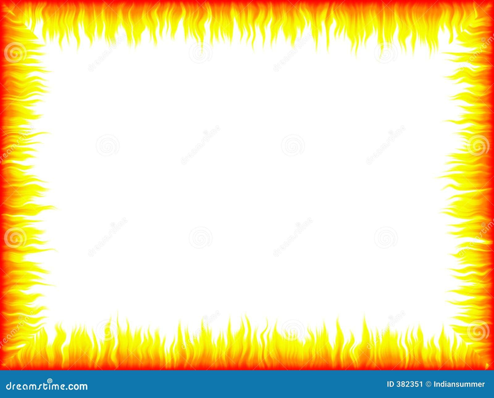 Flame Frame Stock Imag...