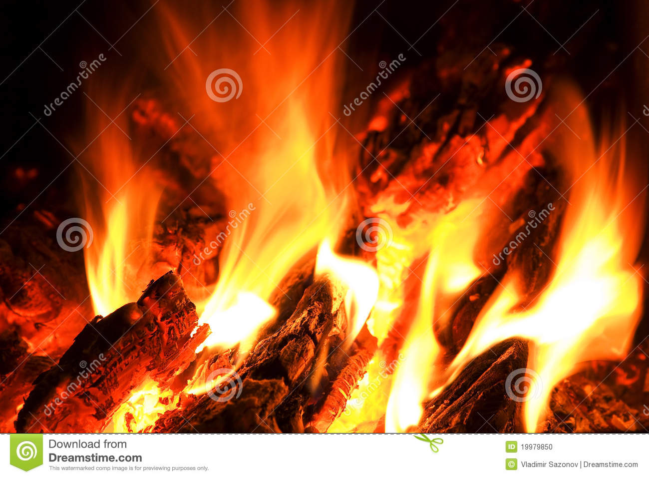 Flame and heat campfire. stock photo. Image of burn ...