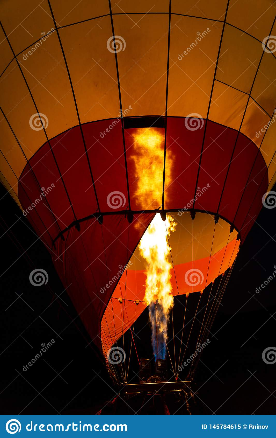 Flame for hot air balloons