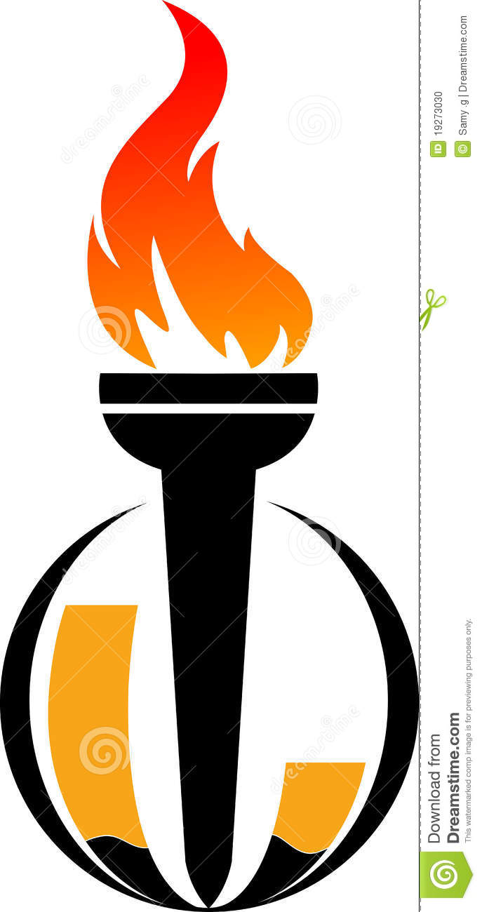 Flame Logo Stock Vector Image Of Fist Athletics Flame 19273030