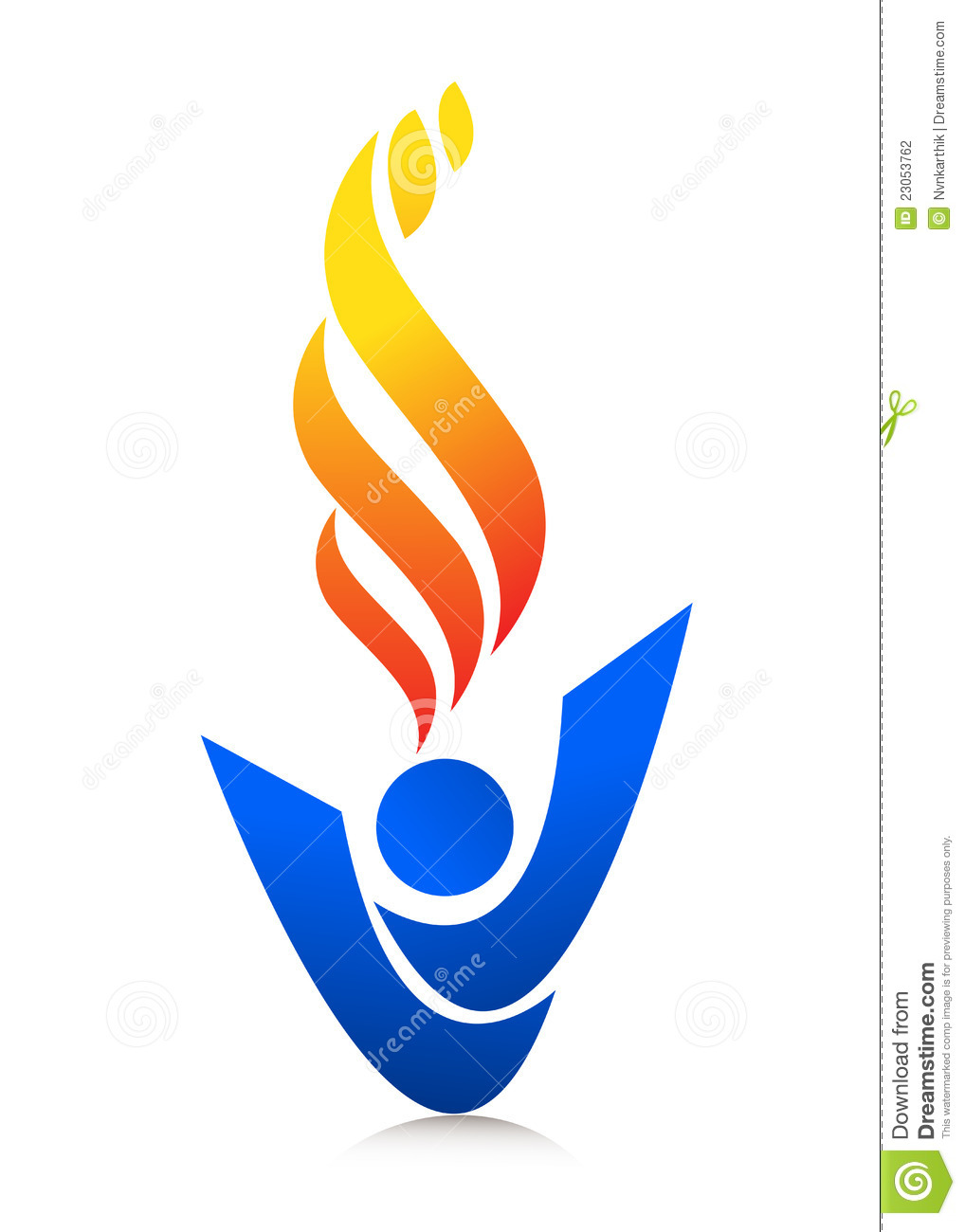 Flame Logo Stock Vector Image Of Colours Concept