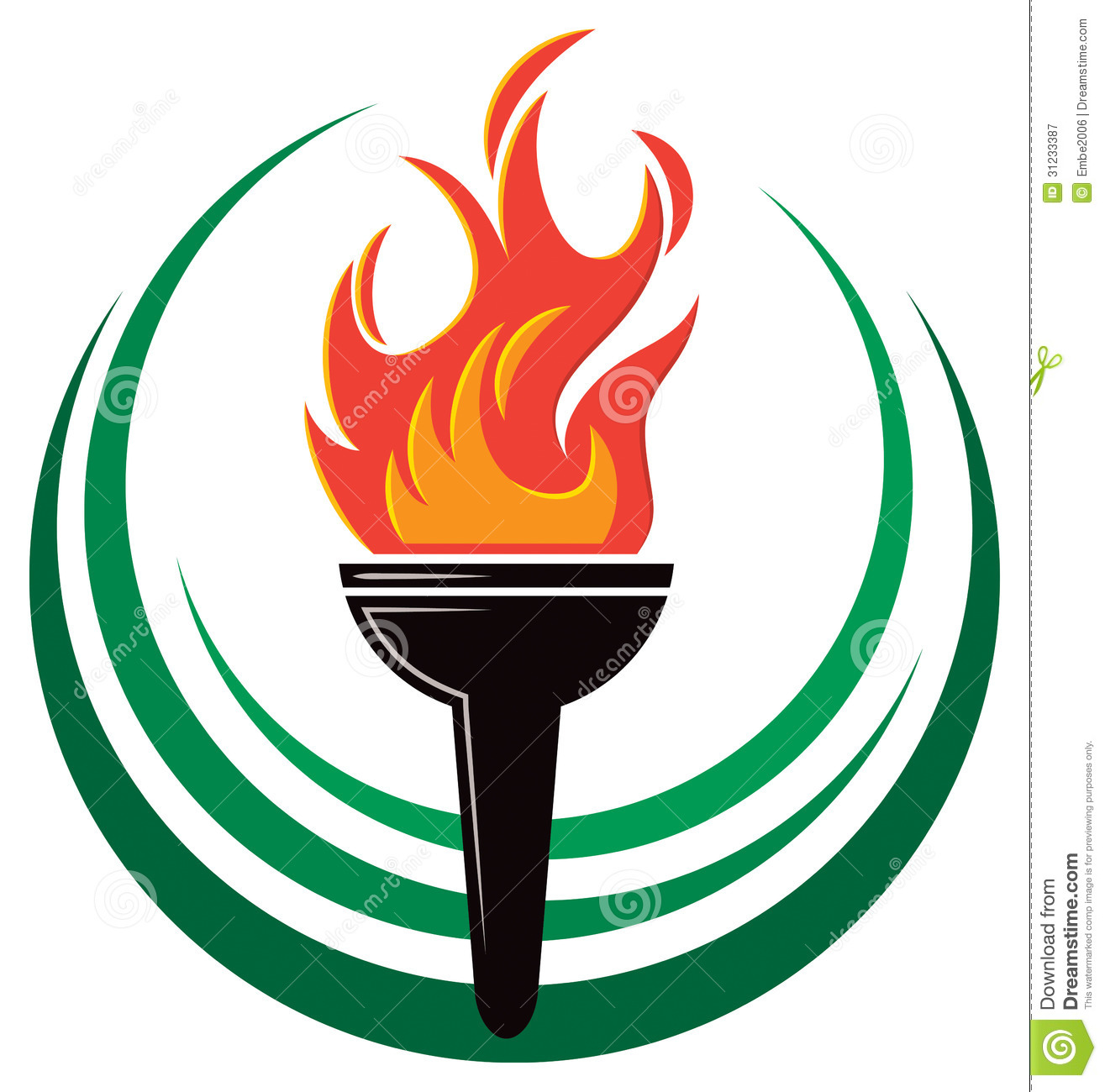 Flame Torch Logo Royalty Free Stock Photography - Image: 31233387