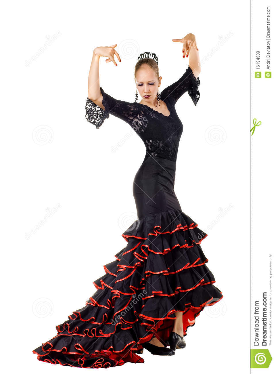 Flamenco Dancer Royalty Free Stock Photos Image 16194308