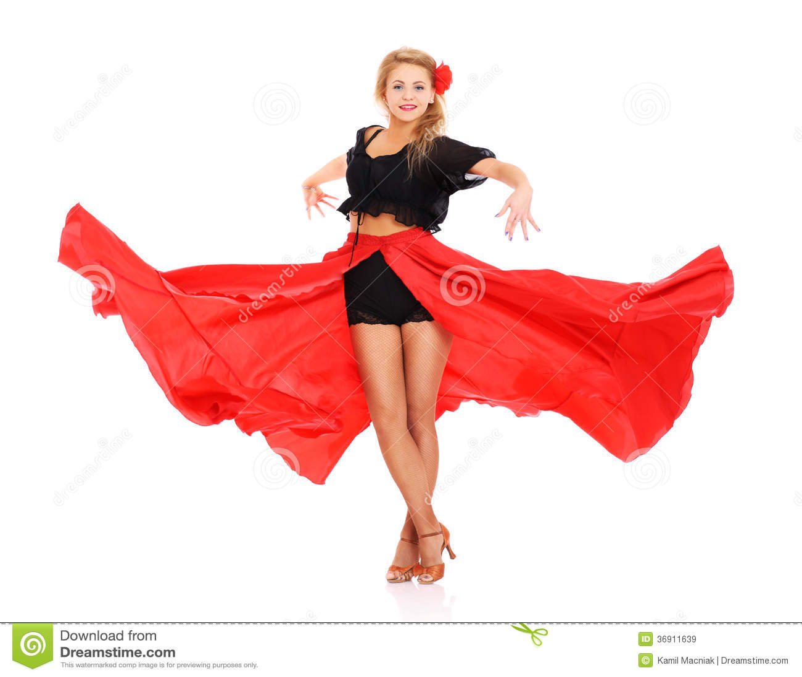 Flamenco dziewczyna