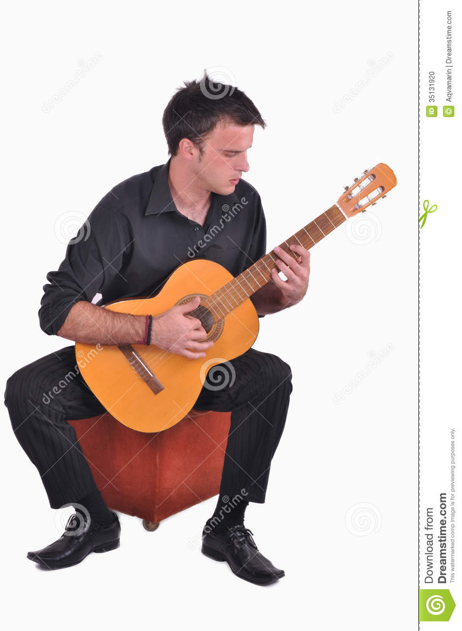 Flamenco Guitar Player Stock Photo Image 35131920