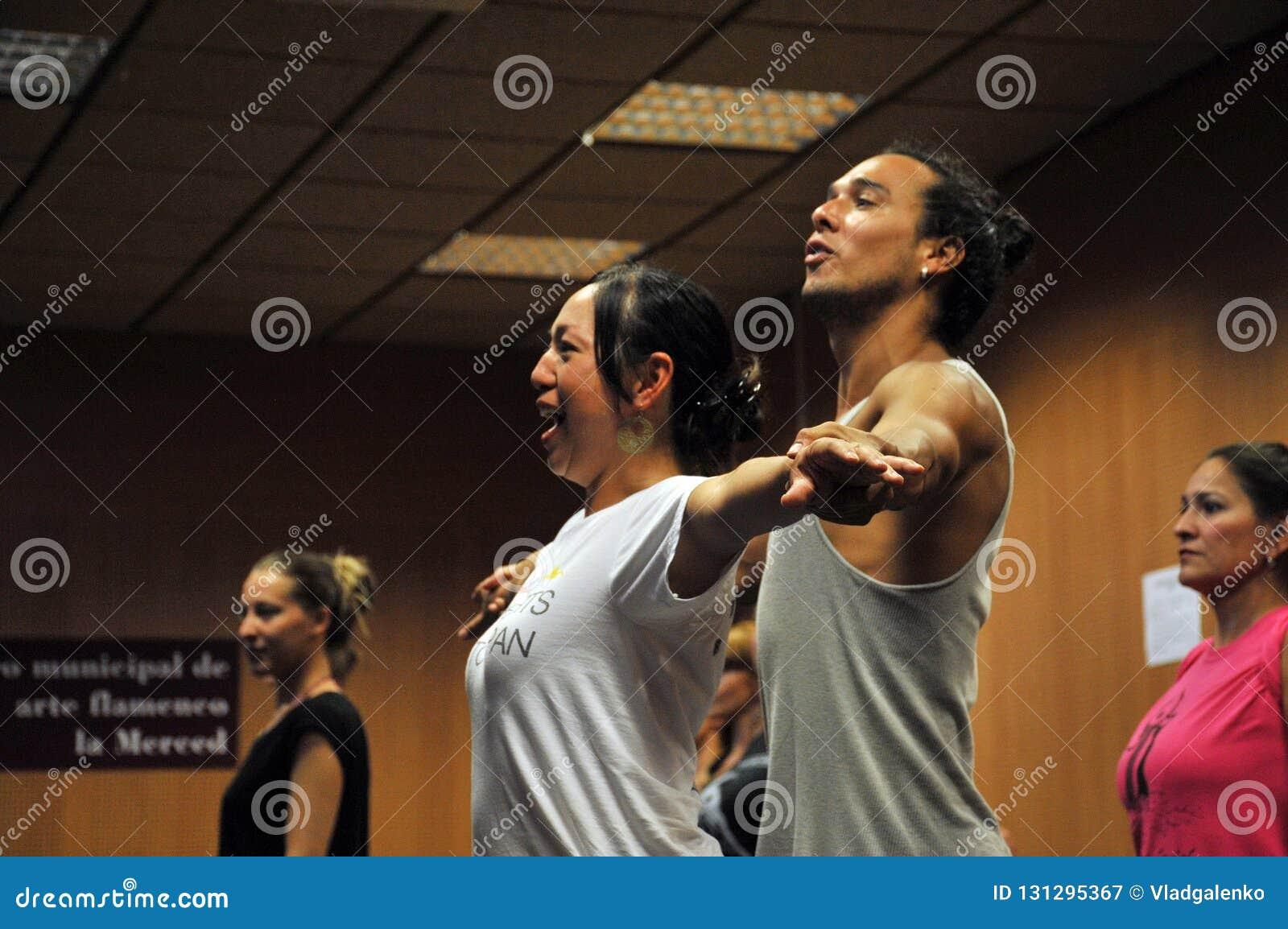 Flamencolärare Miguel Vargas på flamencokonstmitten 'La Merced 'i Cadiz