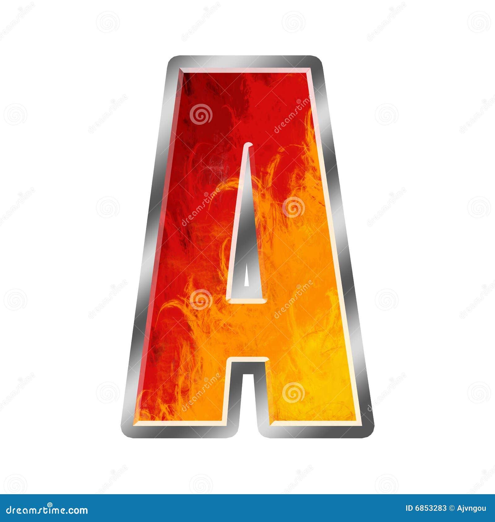 A Alphabet Letter Flames Alphabet Letter...