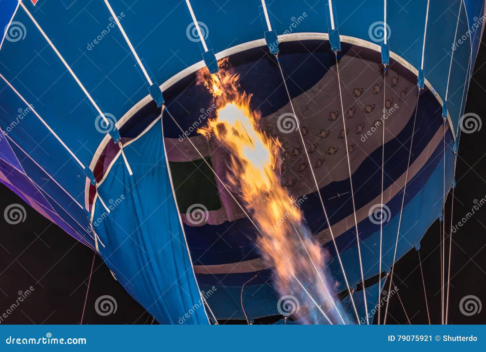 Flames Filling a Hot Air Balloon