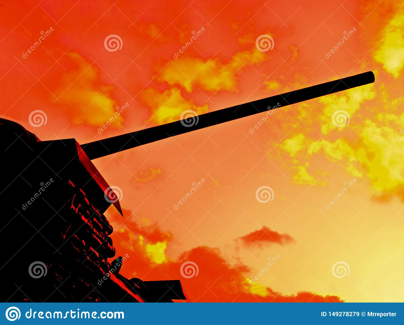 The flames of war stock image  Image of fiery, battle