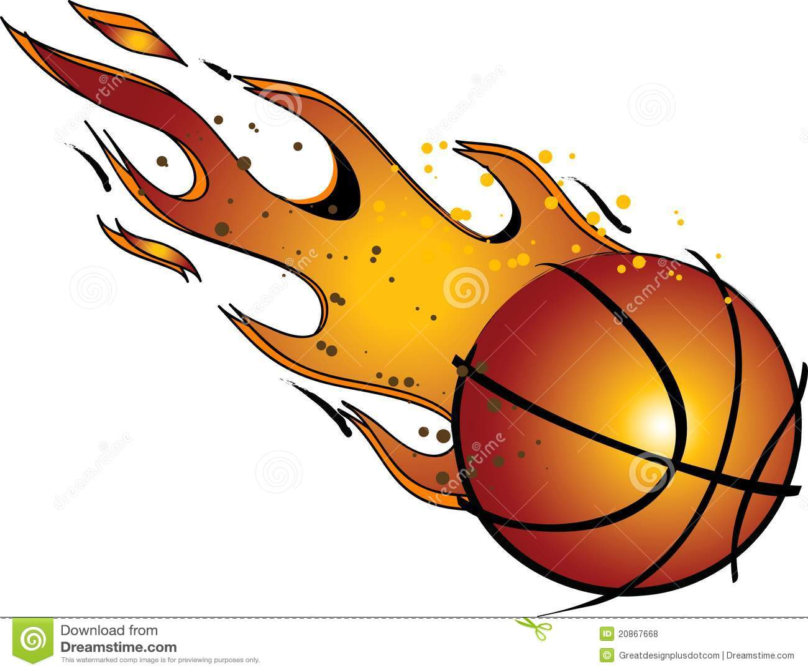 flaming basketball vector clip art stock vector illustration rh dreamstime com basketball clipart free vector basketball clipart free download
