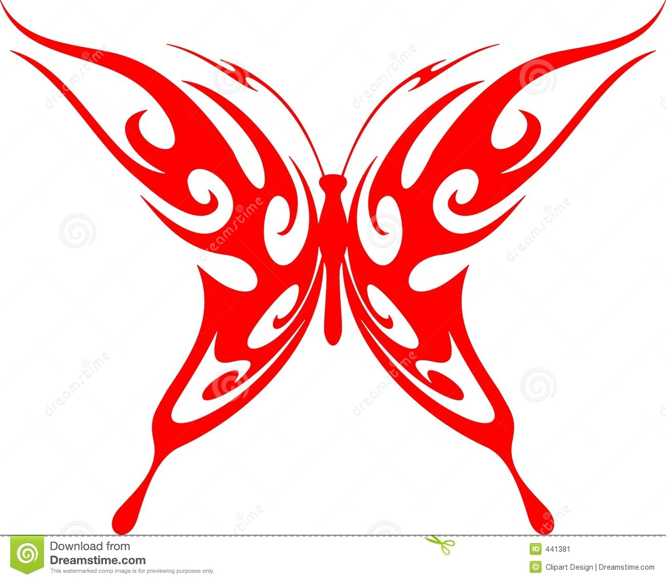 Flaming Butterfly Tribal (Vector) 5 Stock Illustration ...