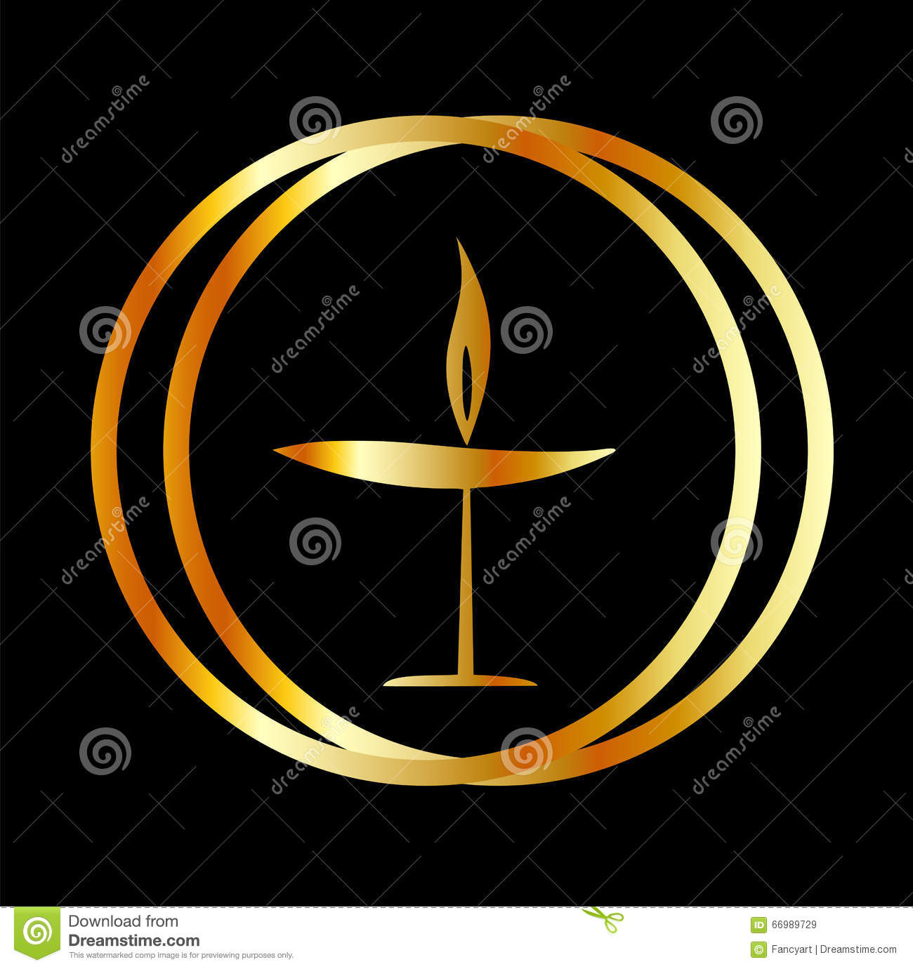 Our Symbol The Flaming Chalice: The Flaming Chalice Stock Image. Image Of Rings, Enlighten