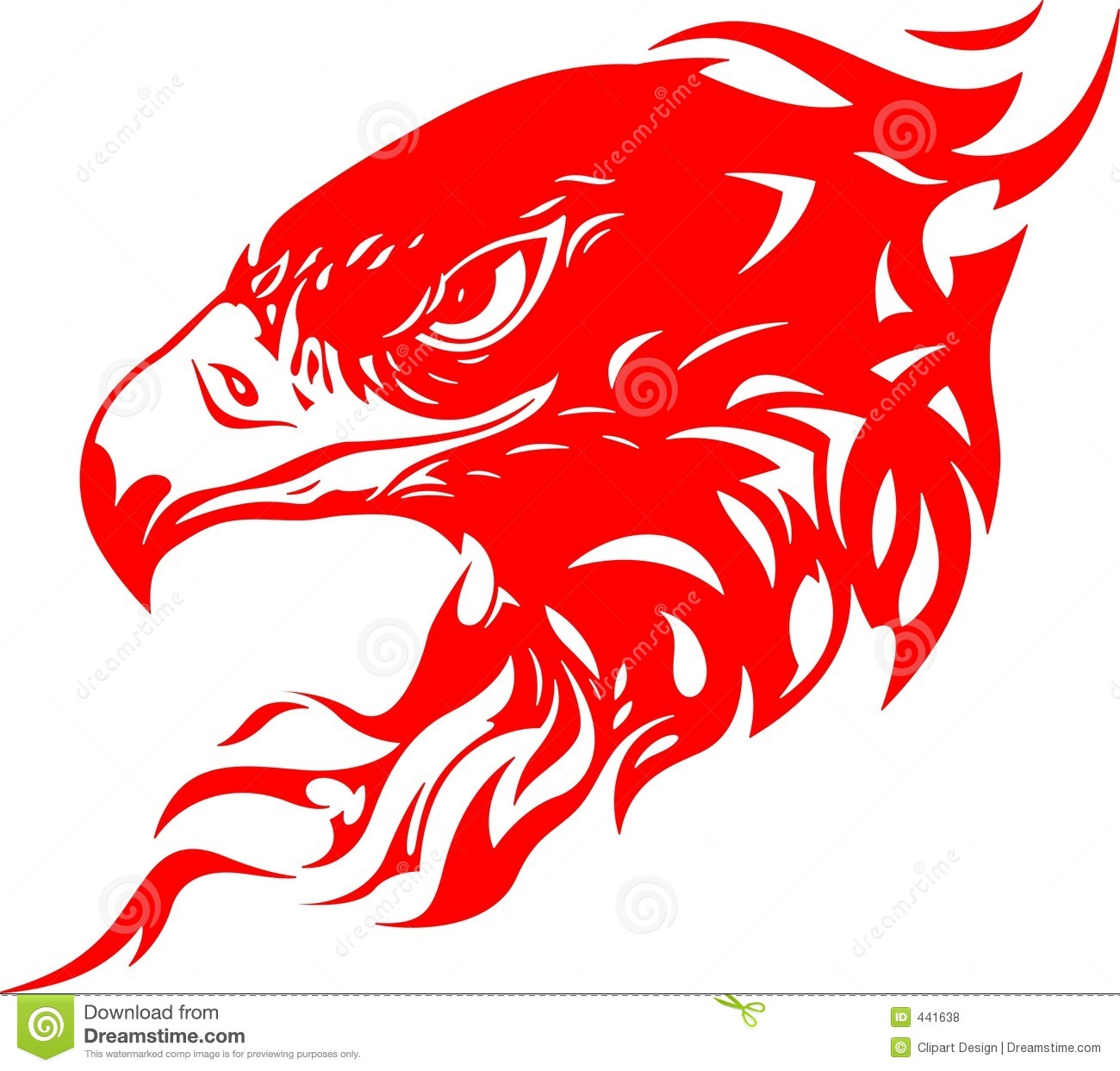 Flaming Eagle Head 1 Royalty Free Stock Photos - Image: 441638 Eagle Silhouette Vector