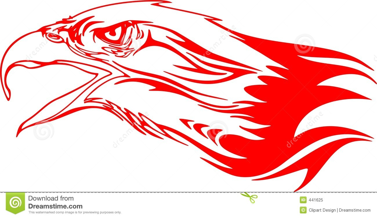 Flaming Eagle Head 3 Stock Illustration Image Of Decal