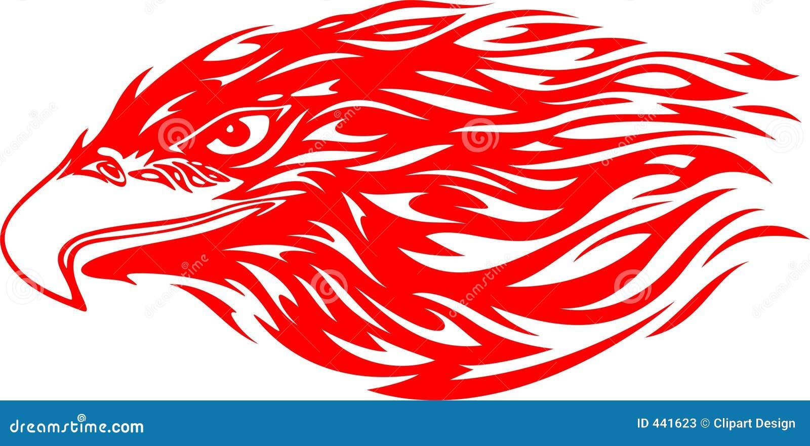 Flaming Eagle Head 4 Stock Illustration Image Of Phoenix