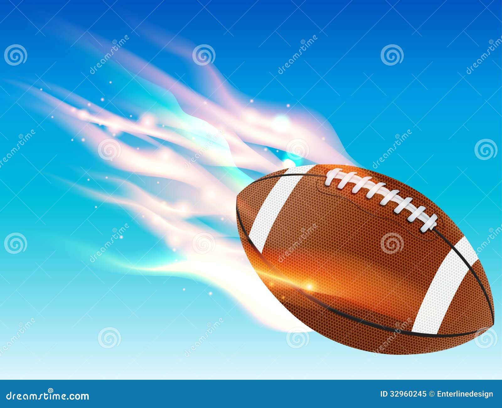 Flaming Football Royalty Free Stock Photo - Image: 32960245