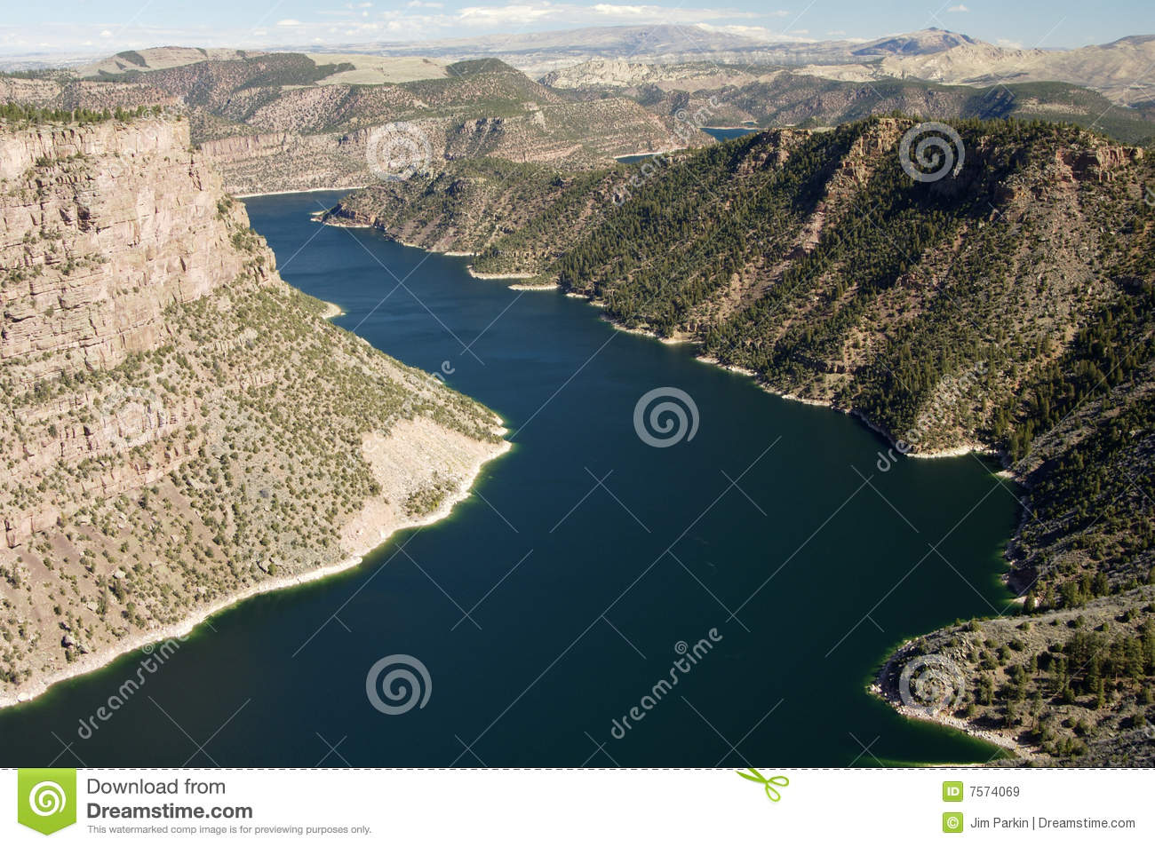 Download Flaming Gorge stock image. Image of colorado, ashley, vista - 7574069