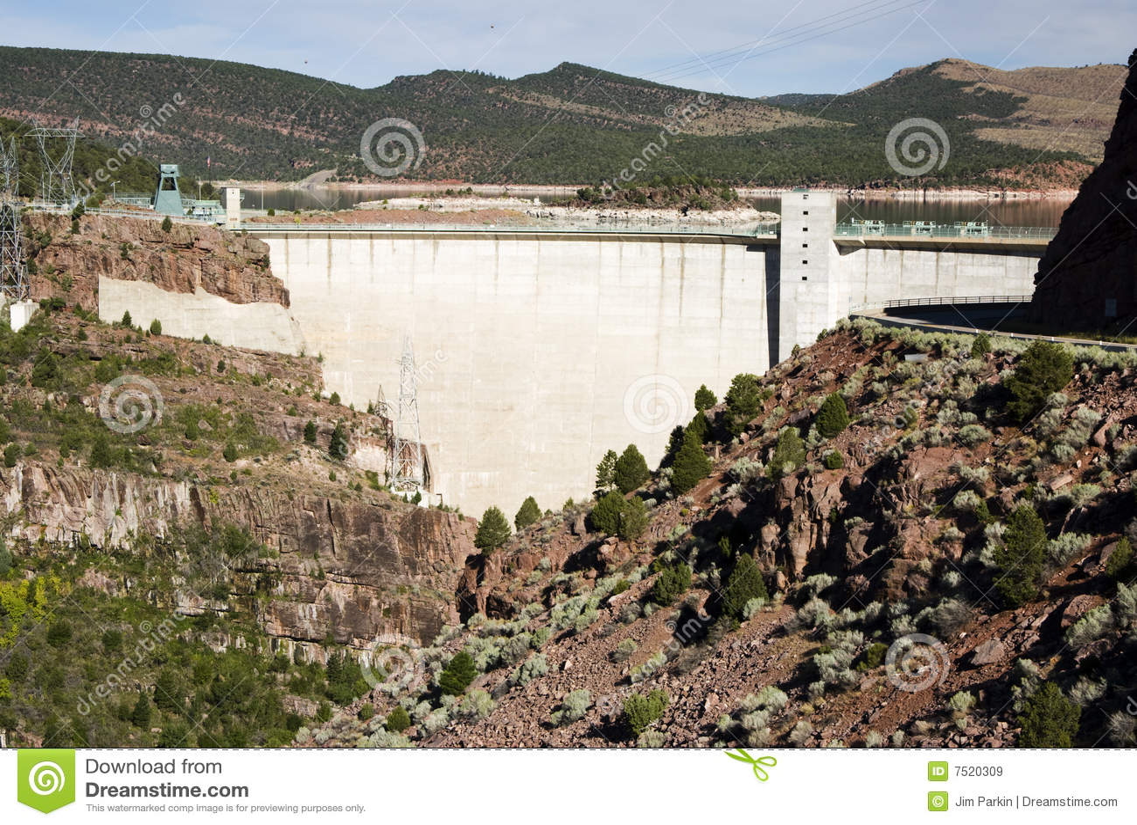 Download Flaming Gorge Dam stock image. Image of substation, river - 7520309