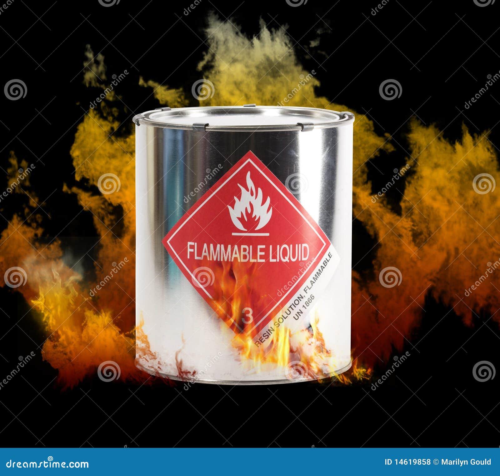 Flaming Hazardous Liquids Can