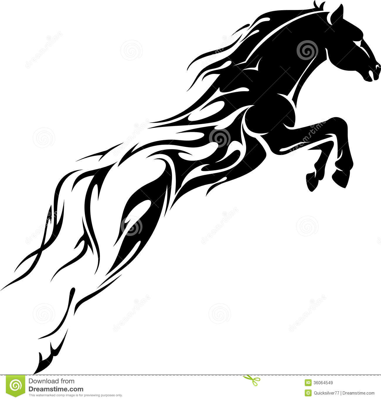 Line Drawing Horse Tattoo : Flaming horse power royalty free stock images image