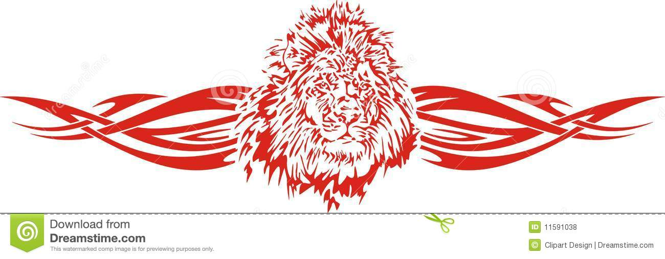 Flaming lion illustration, great for vehicle graphics, stickers and T ...
