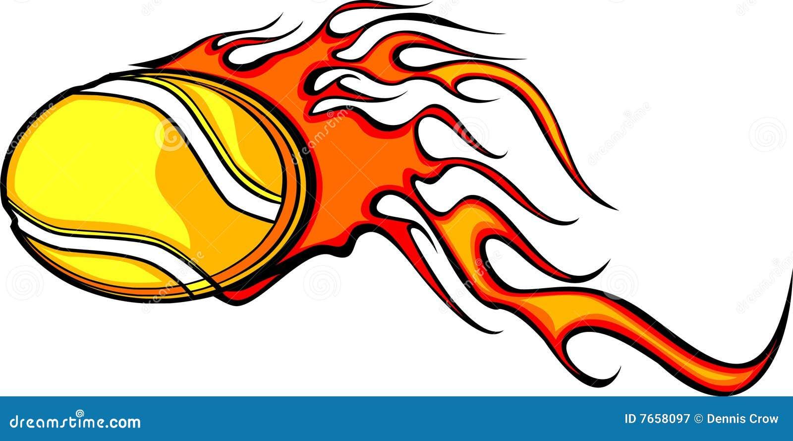 flaming tennis ball royalty free stock photography image
