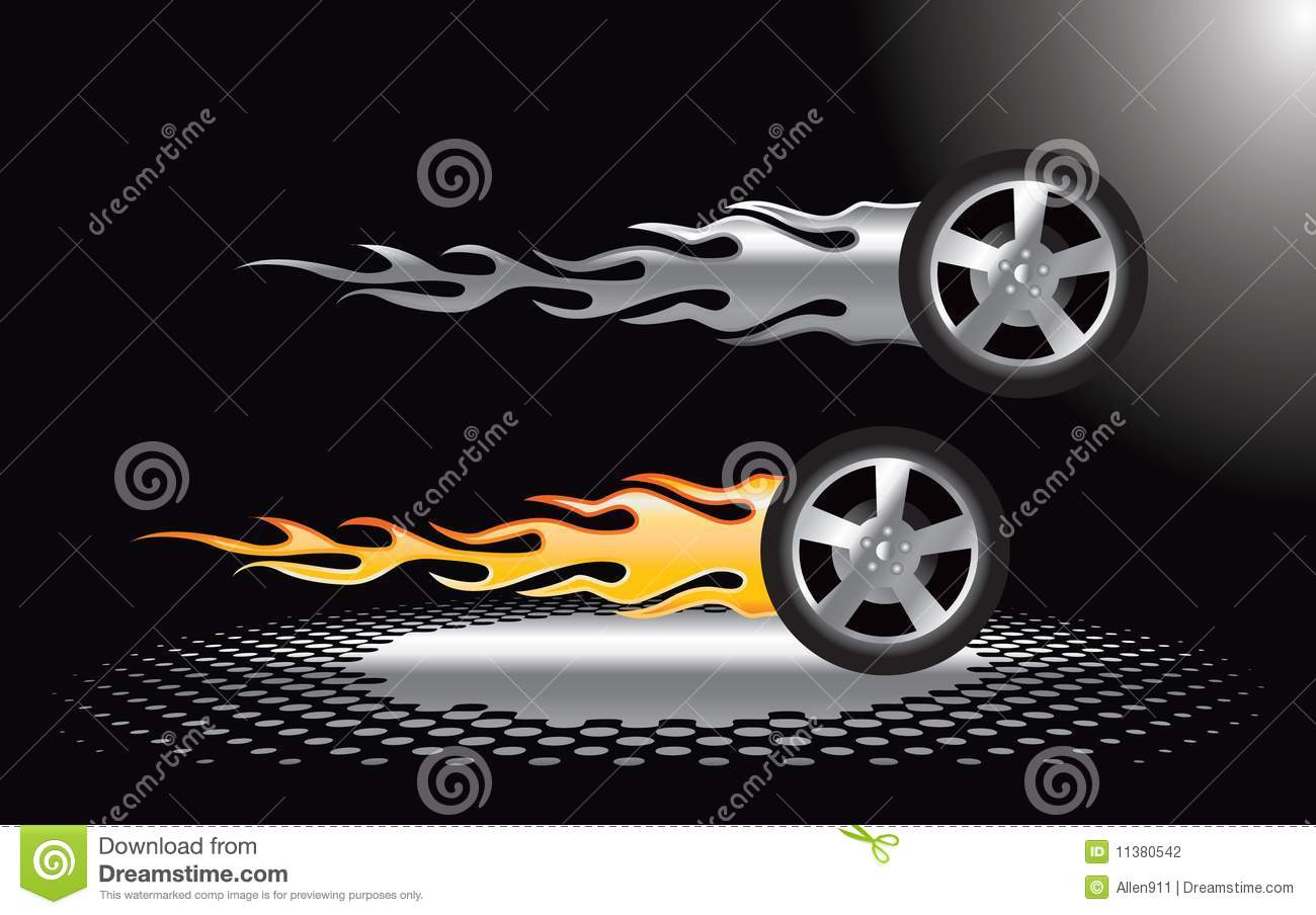 Silver Gold Flaming Tires Stock Vector 29275270 - Shutterstock |Flamming Tire