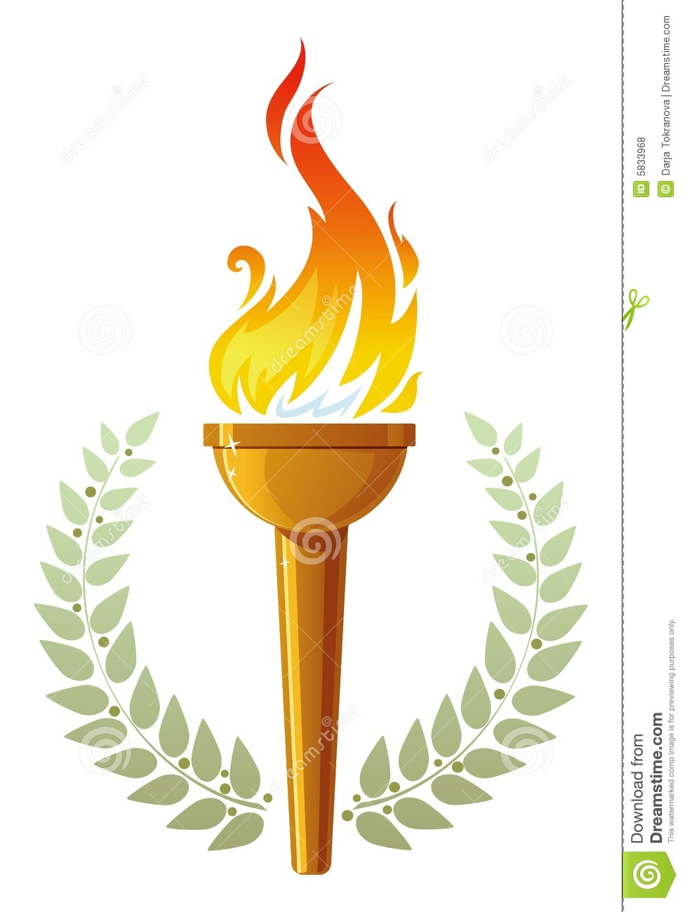 Flaming Torch Royalty Free Stock Photos - Image: 5833968