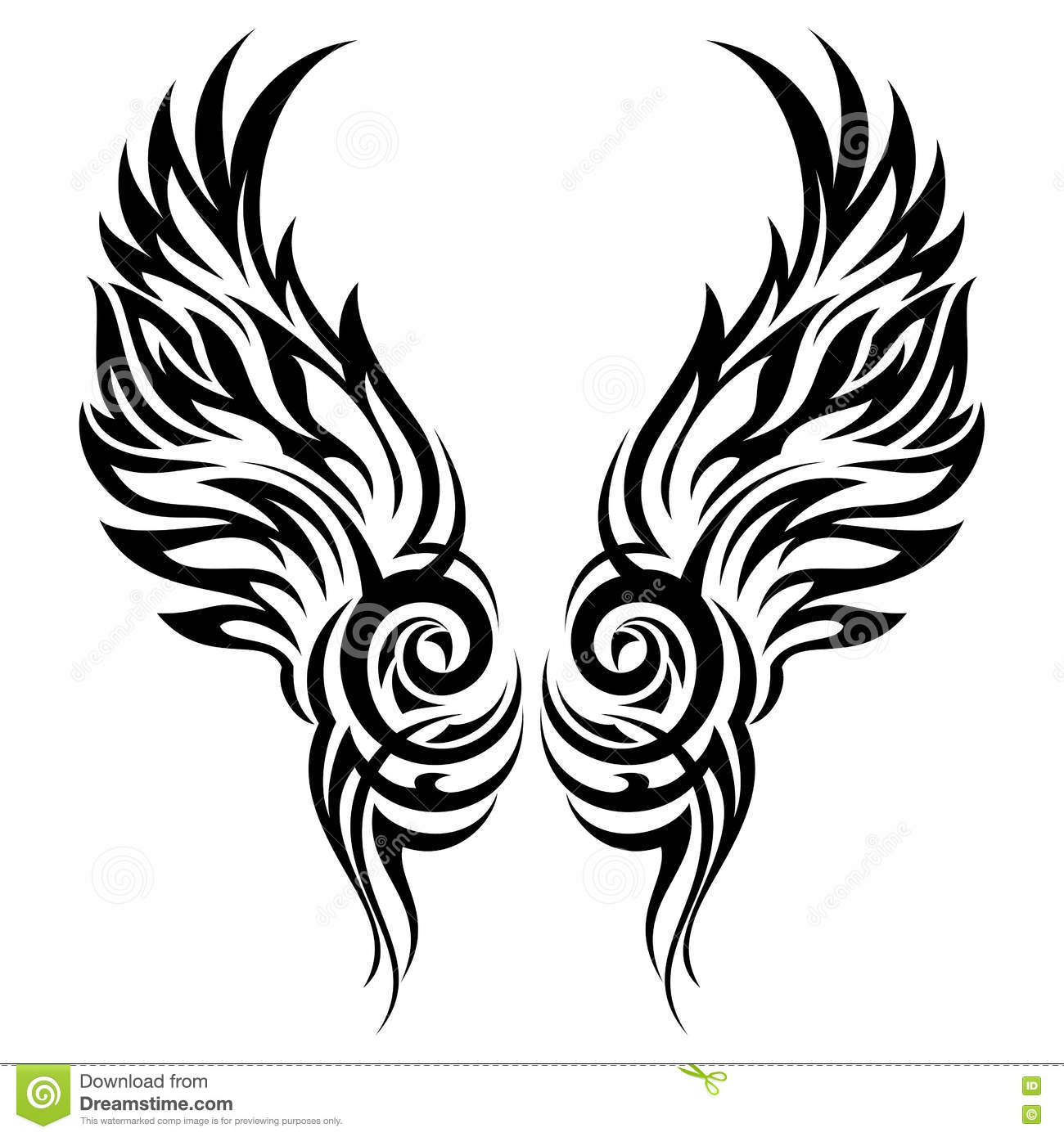 8118a9ee3f1c0 Flaming Wings Tribal Tattoo Stock Vector - Illustration of celtic ...