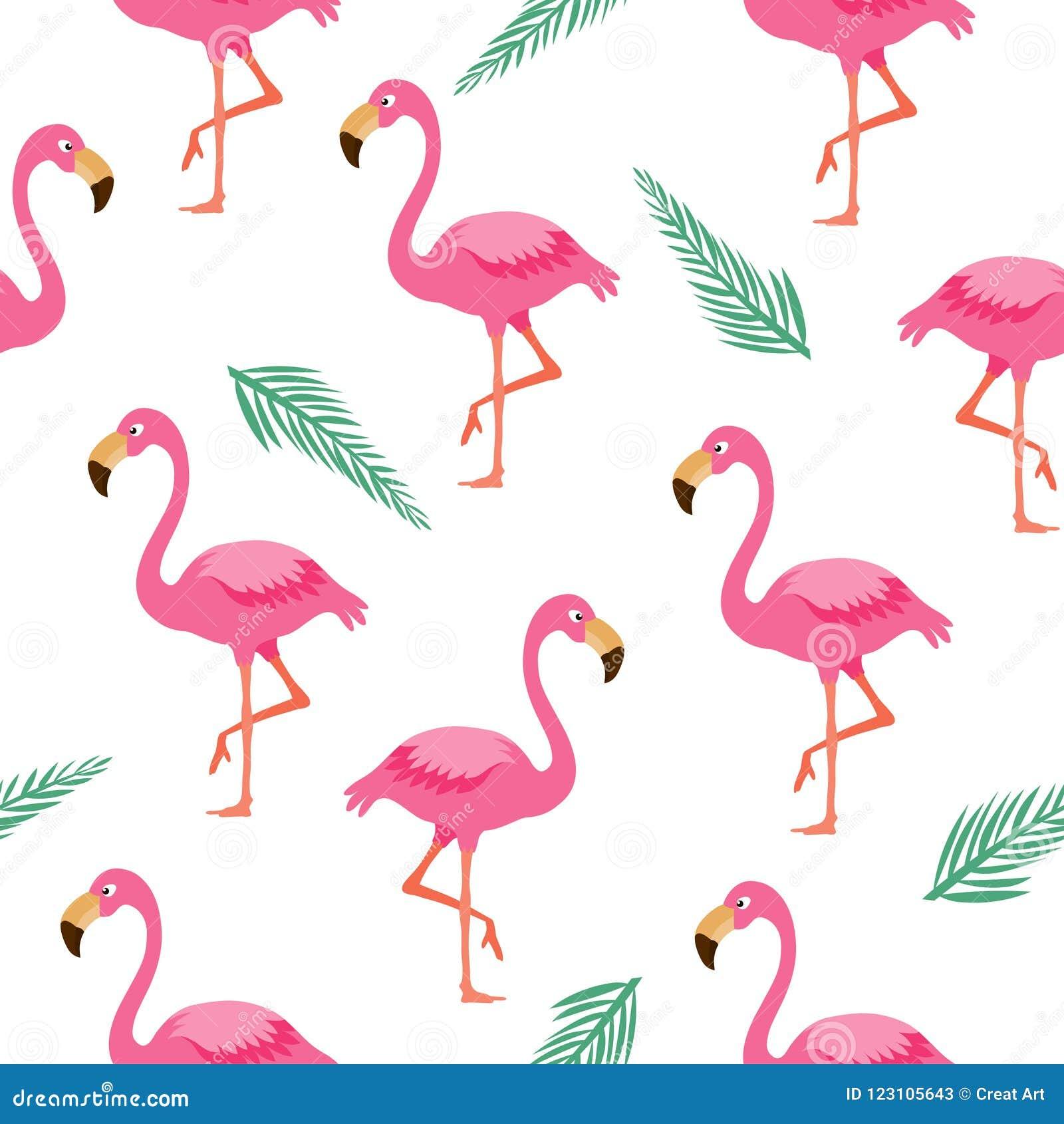 Flaminga bezszwowy wzór Różowy flaminga tło