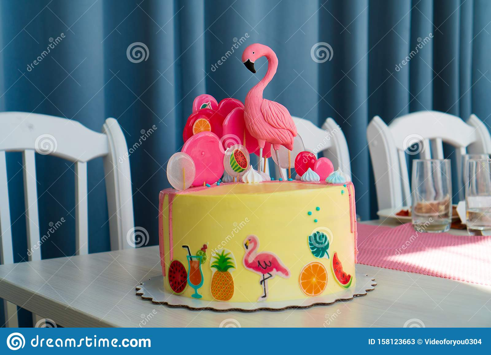 Miraculous Flamingo Cake At The Hawaiian Party Childrens Birthday Cake Aon Birthday Cards Printable Opercafe Filternl