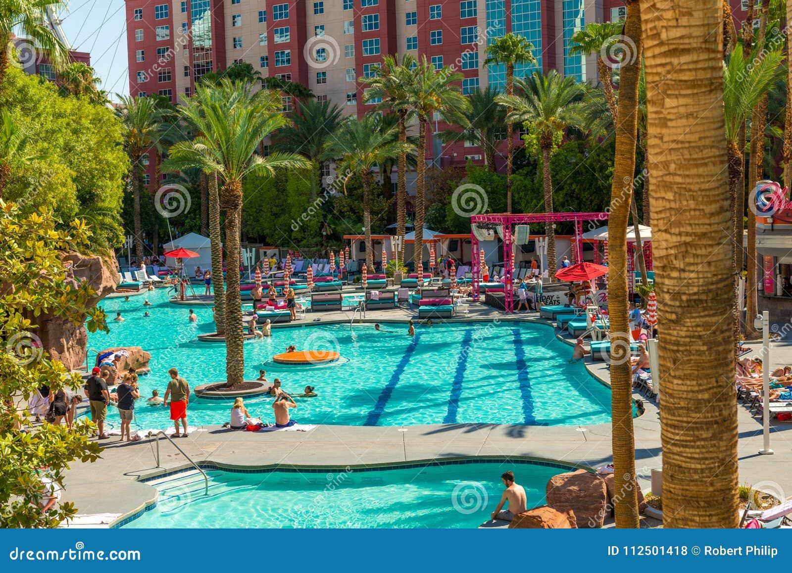 The Flamingo Hilton Hotel Resort Pool Editorial Stock Photo