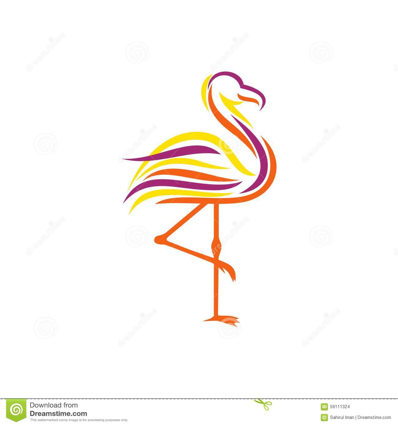 Flamingo Logo Template stock vector. Illustration of high - 59111324