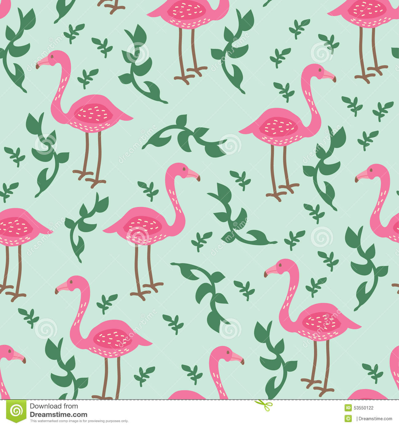 Flamingo Pattern Stock Illustration - Image: 53550122