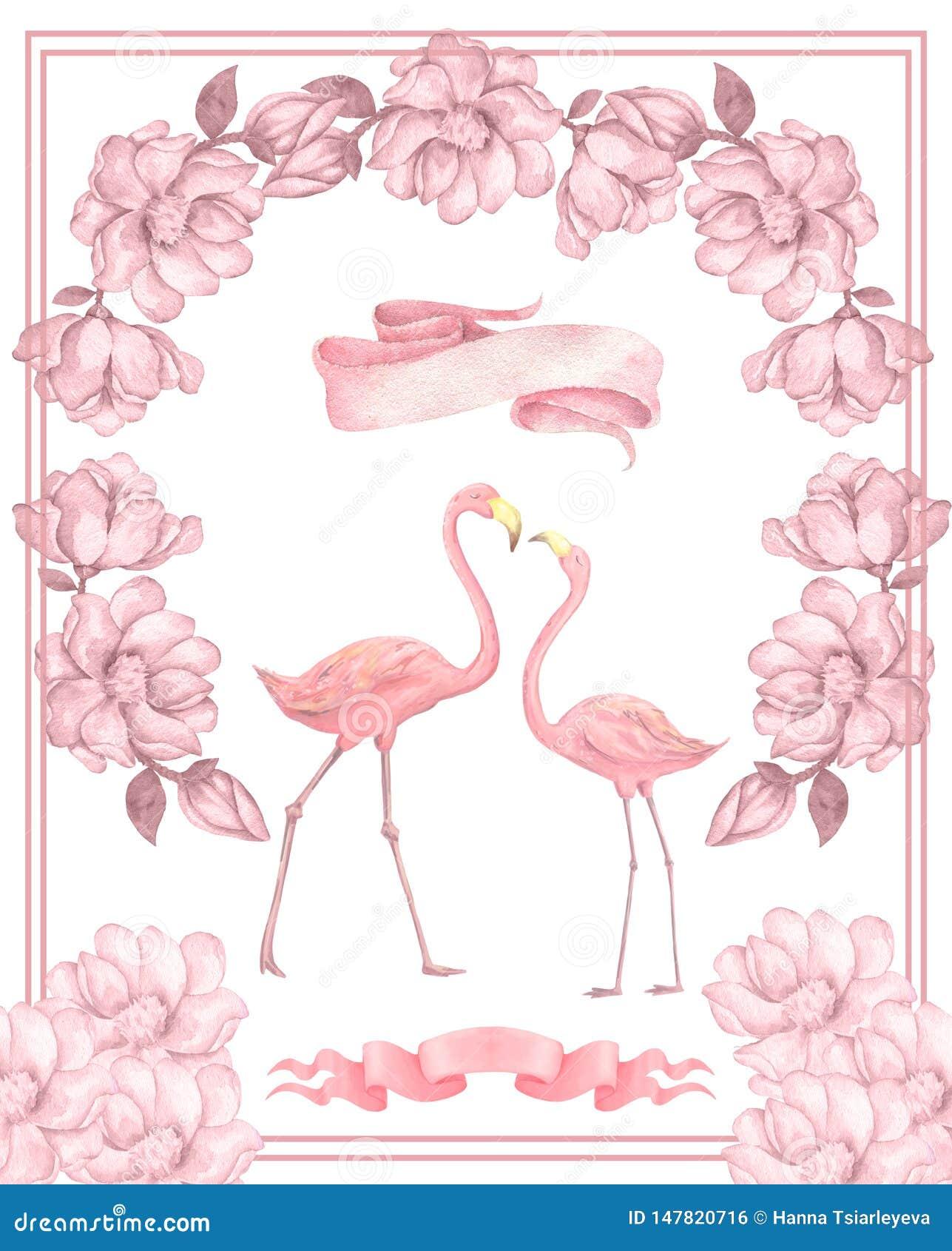 Flamingo Wedding Card Flamingo Engagement Card Flamingo Congratulations Card Flamingo Card Pink Flamingo Card Flamingo Marriage Card