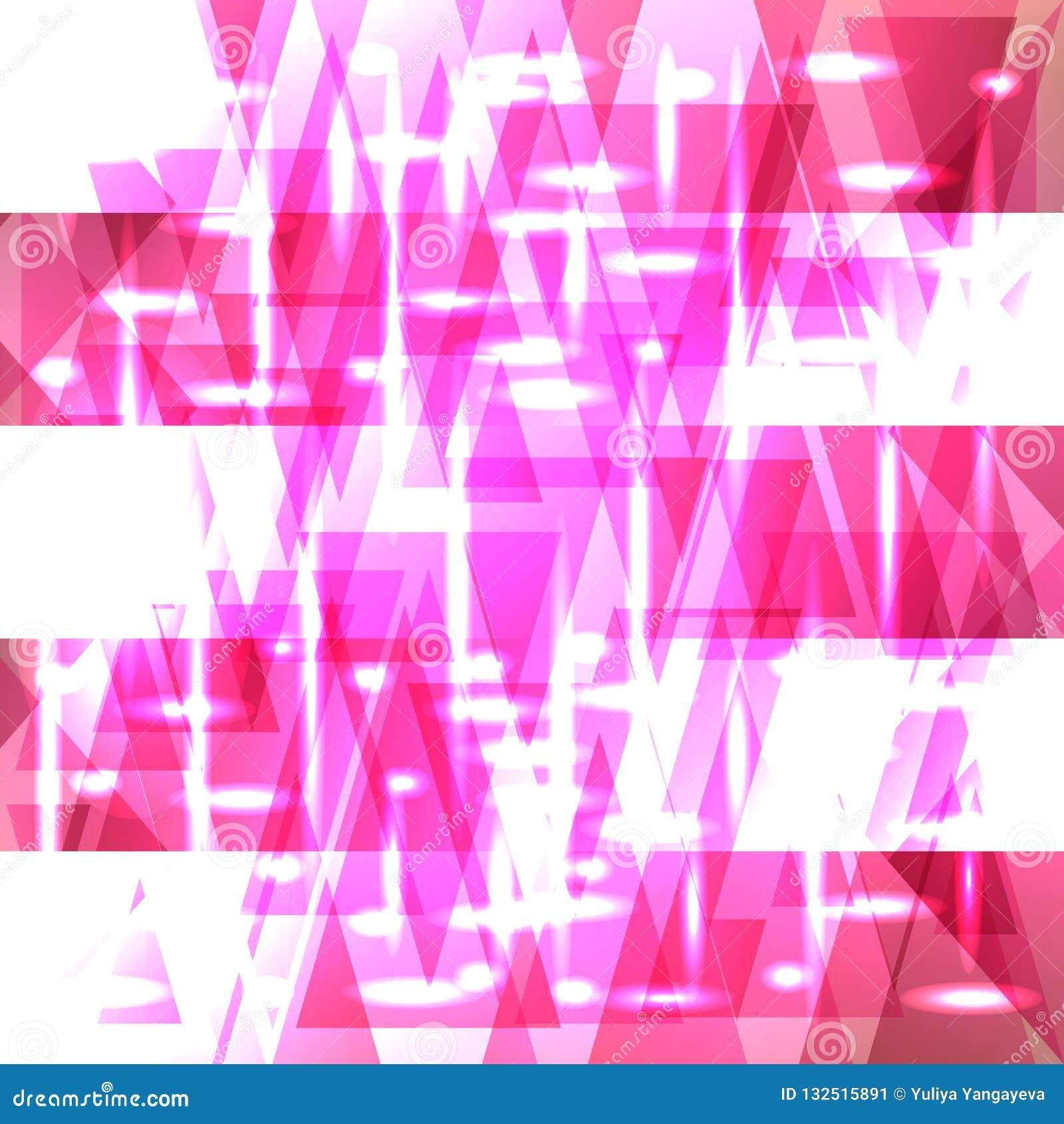 Flamingomuster des Vektors glänzendes Farbvon Scherben und von Streifen
