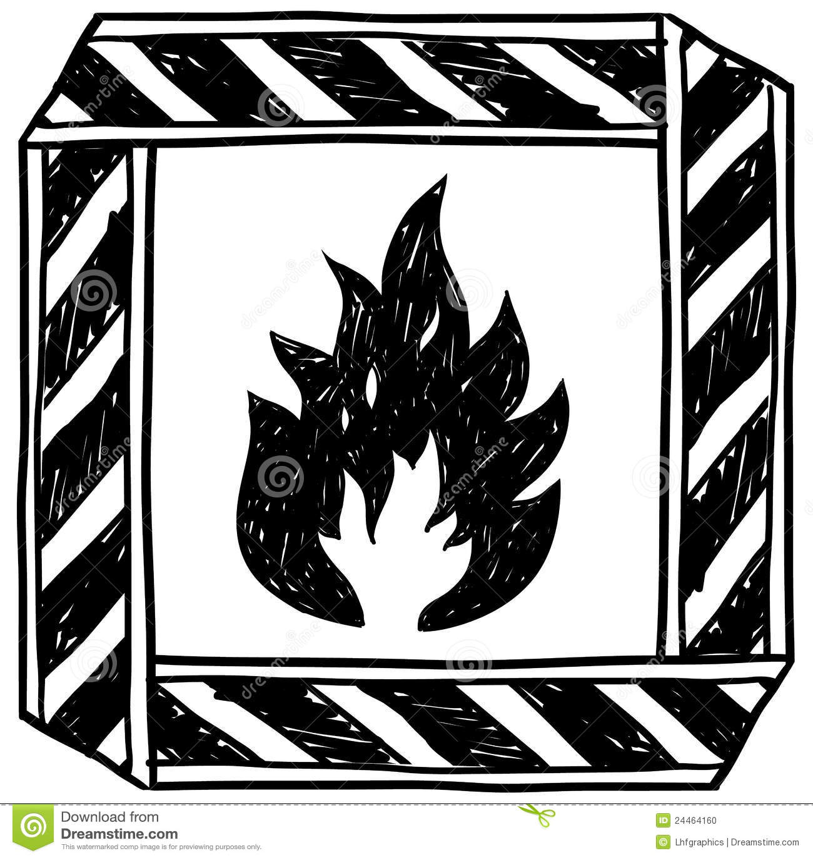 Flammable caution symbol vector stock vector illustration of flammable caution symbol vector buycottarizona