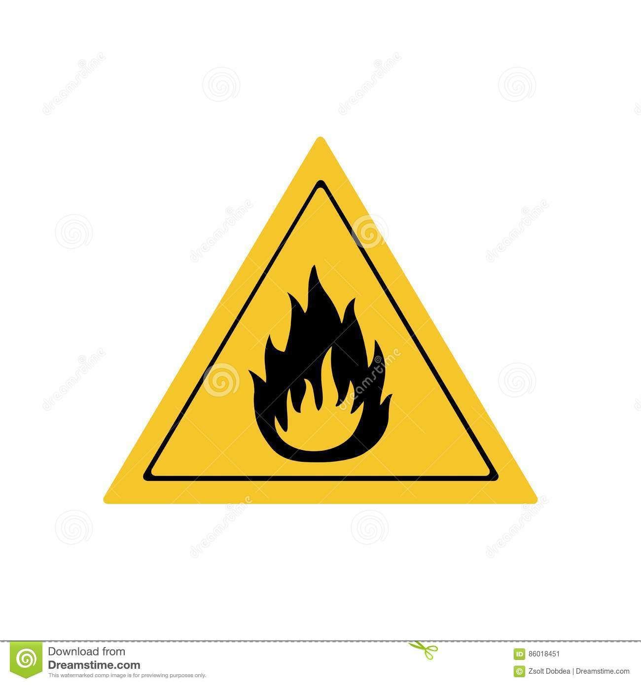Flammable material sign vector design stock vector image 86018451 flammable material sign vector design buycottarizona