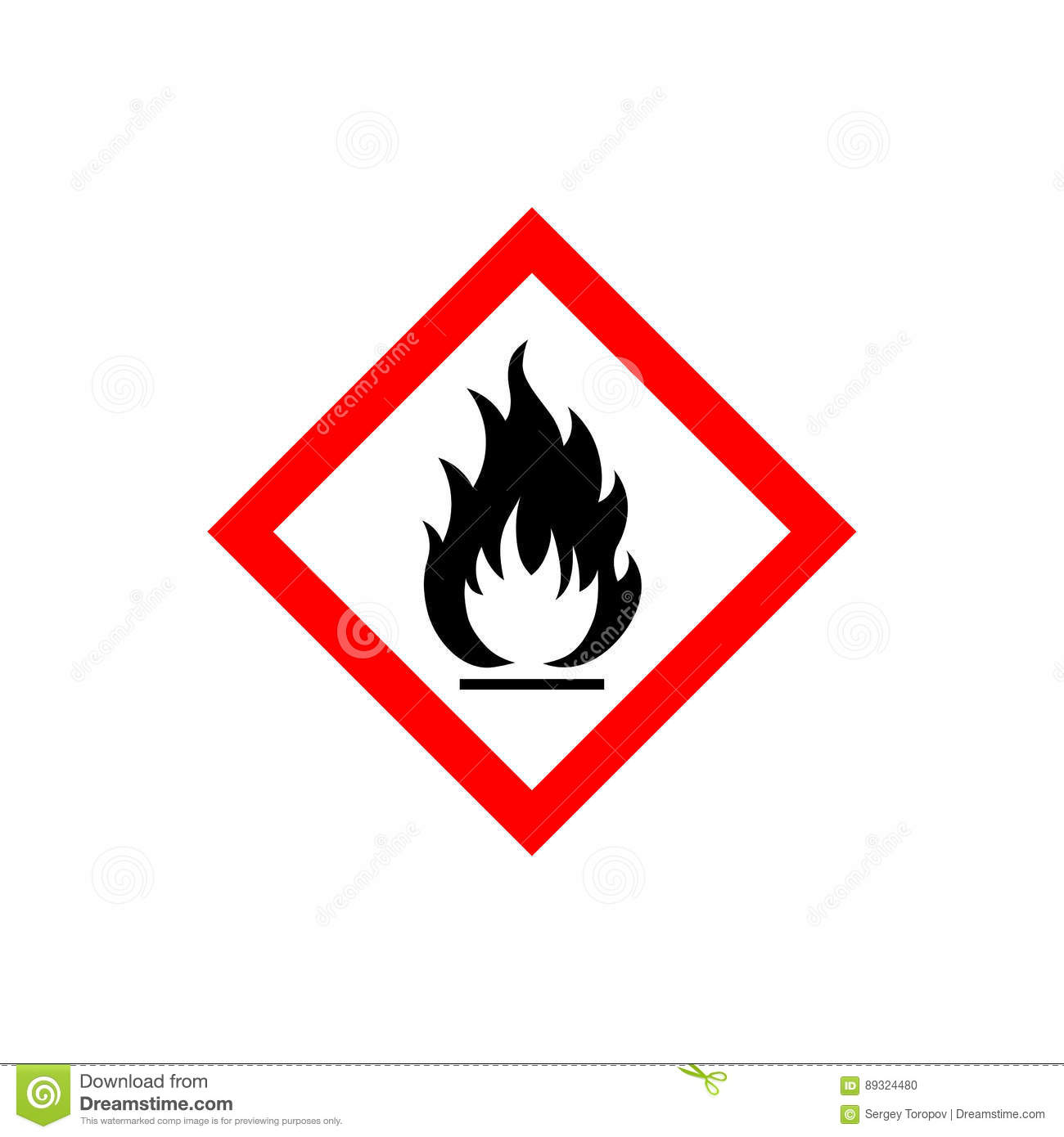 Flammable sign icon stock vector. Illustration of ...