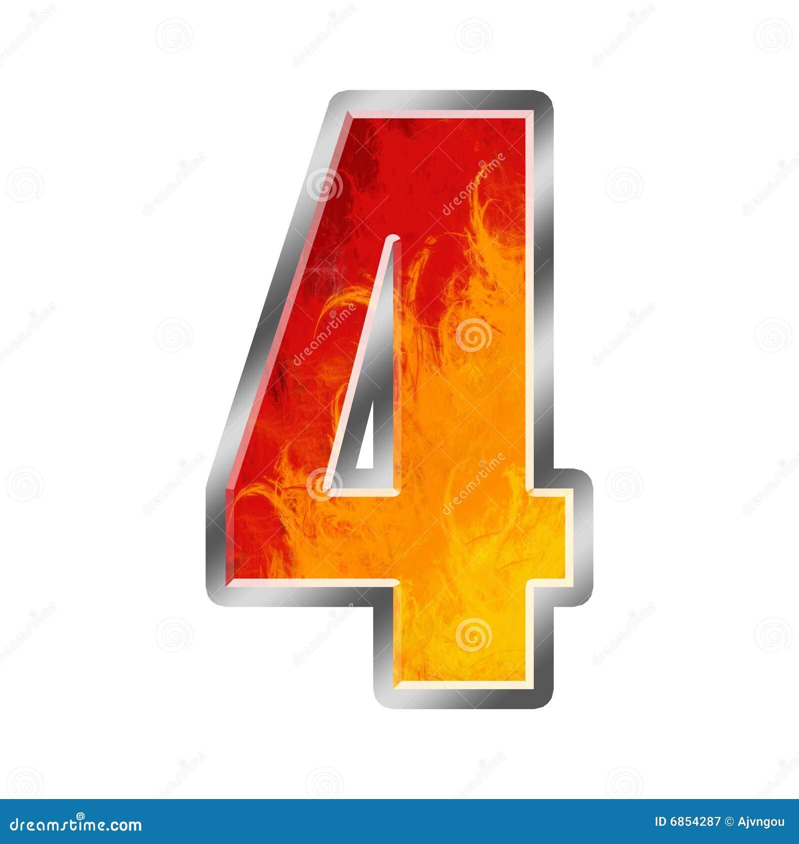 flamme alphabet nr 4 vier