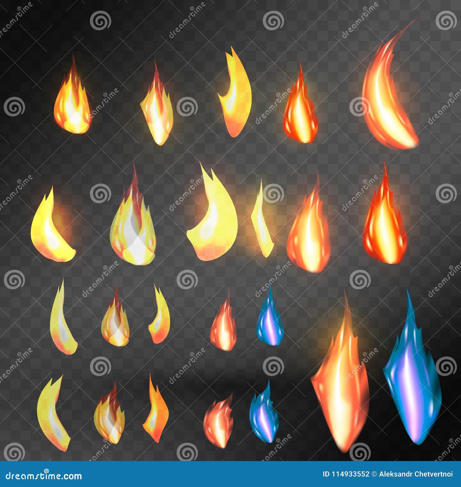 Flamme de colère sur le fond transparent Pour usage sur les fonds clairs Transparent seulement dans le format de vecteur