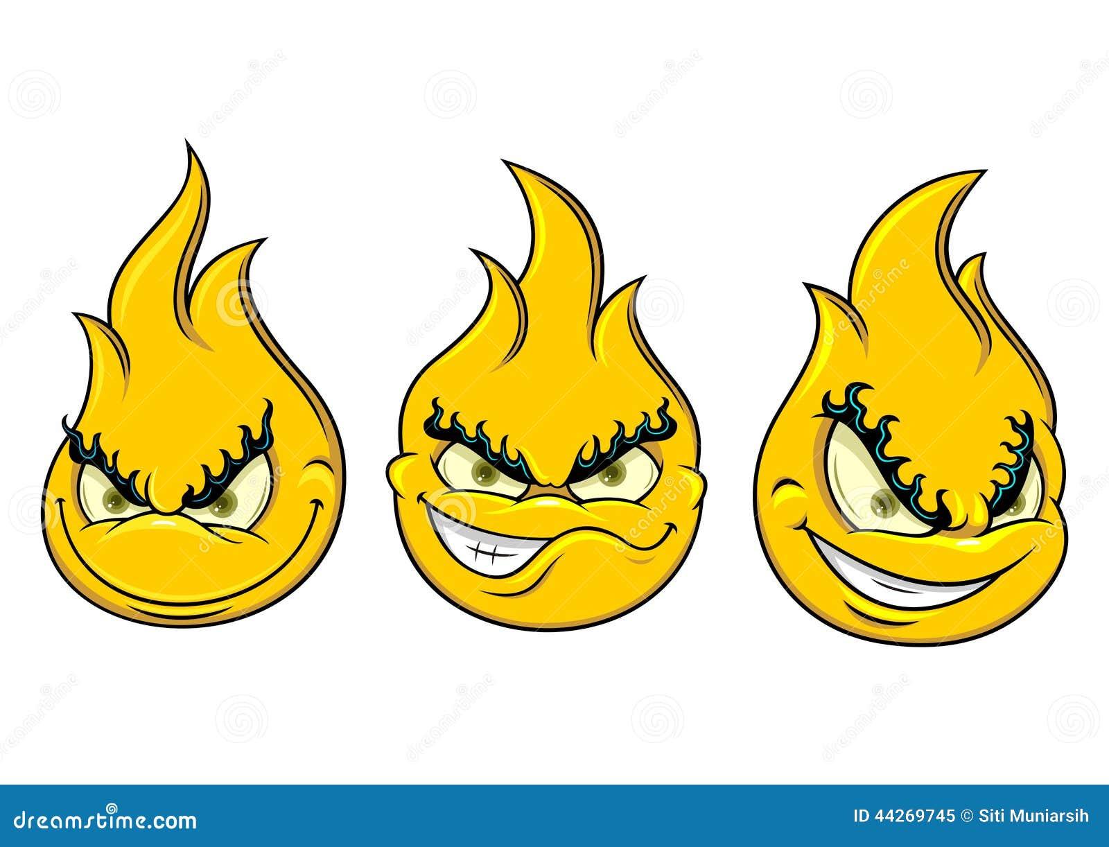 flamme souriante illustration de vecteur illustration du. Black Bedroom Furniture Sets. Home Design Ideas