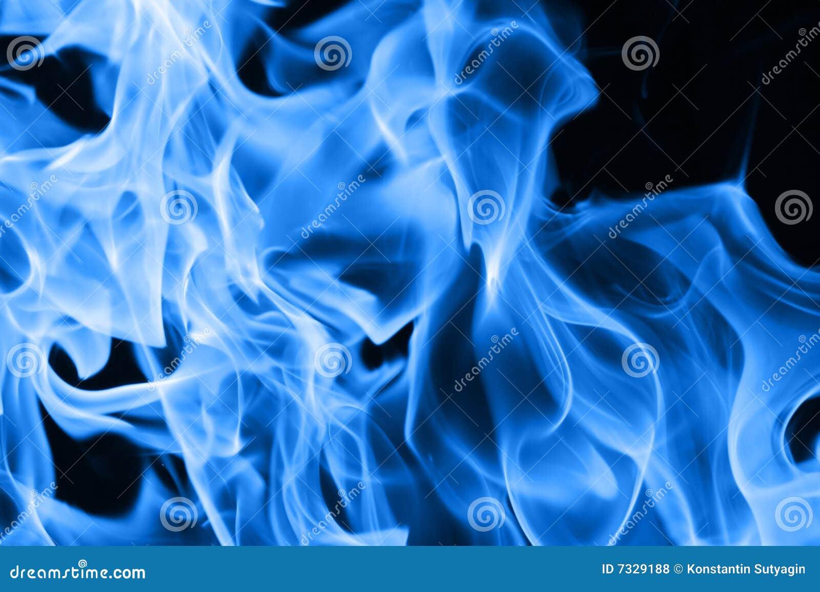 Flammes bleues d incendie