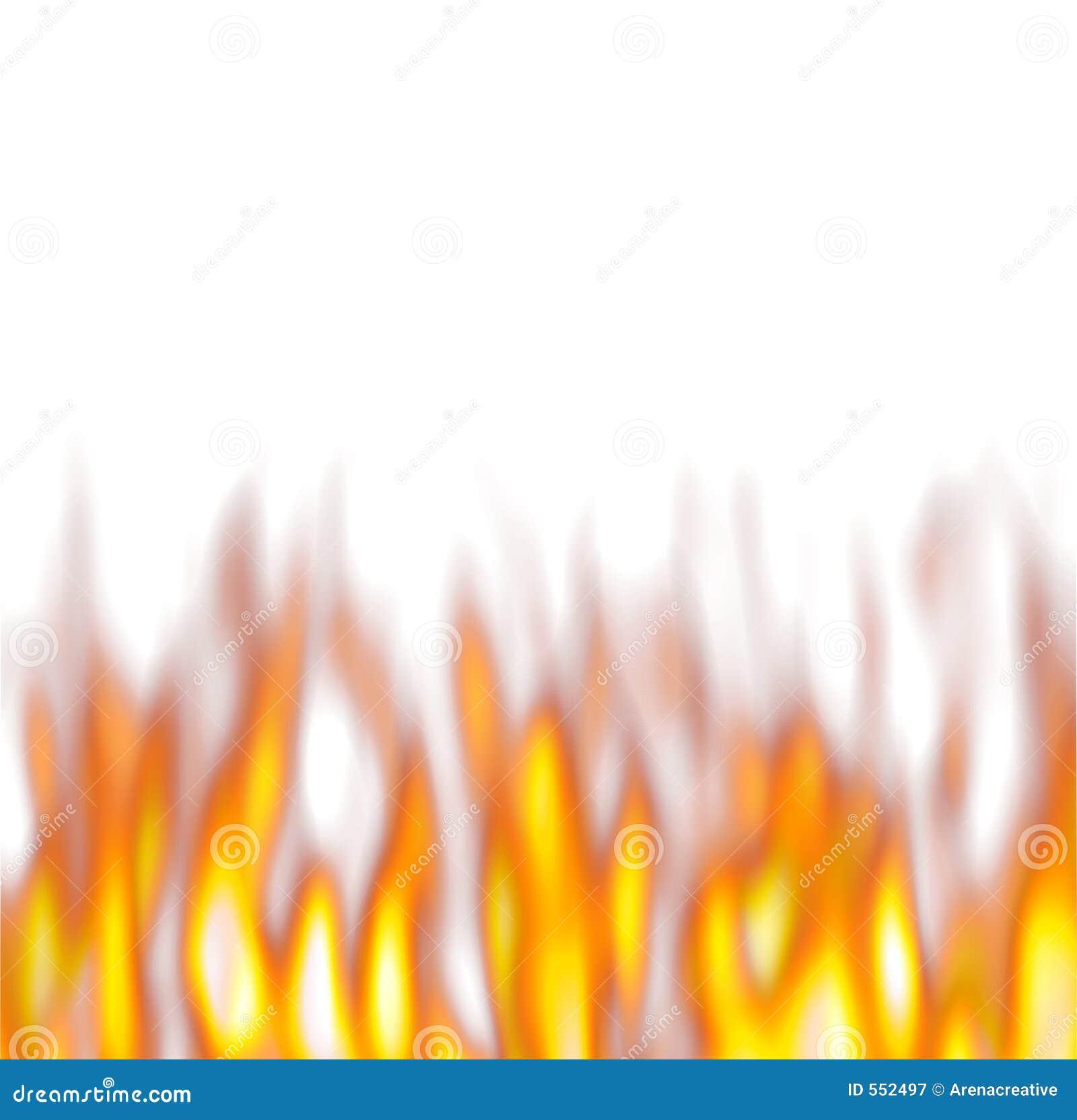 flammes chaudes au dessus de blanc illustration stock. Black Bedroom Furniture Sets. Home Design Ideas