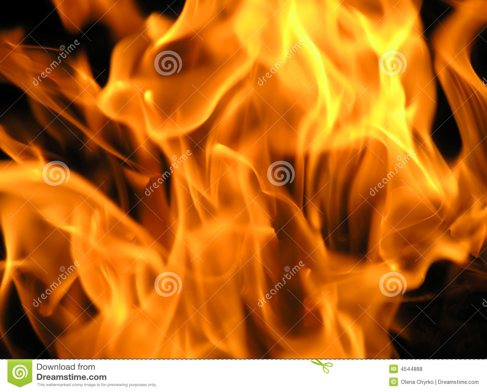 Flammes d incendie