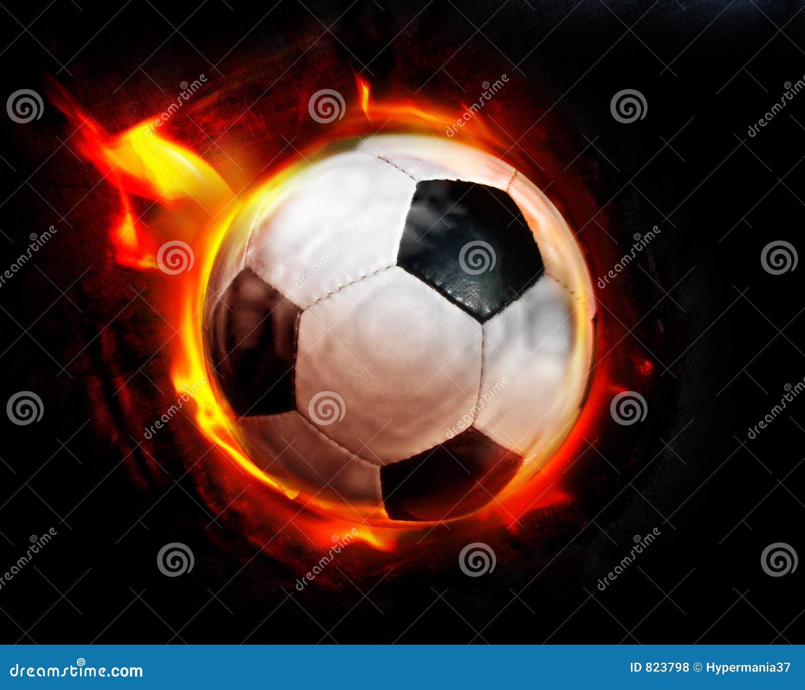 Flammes de bille de football