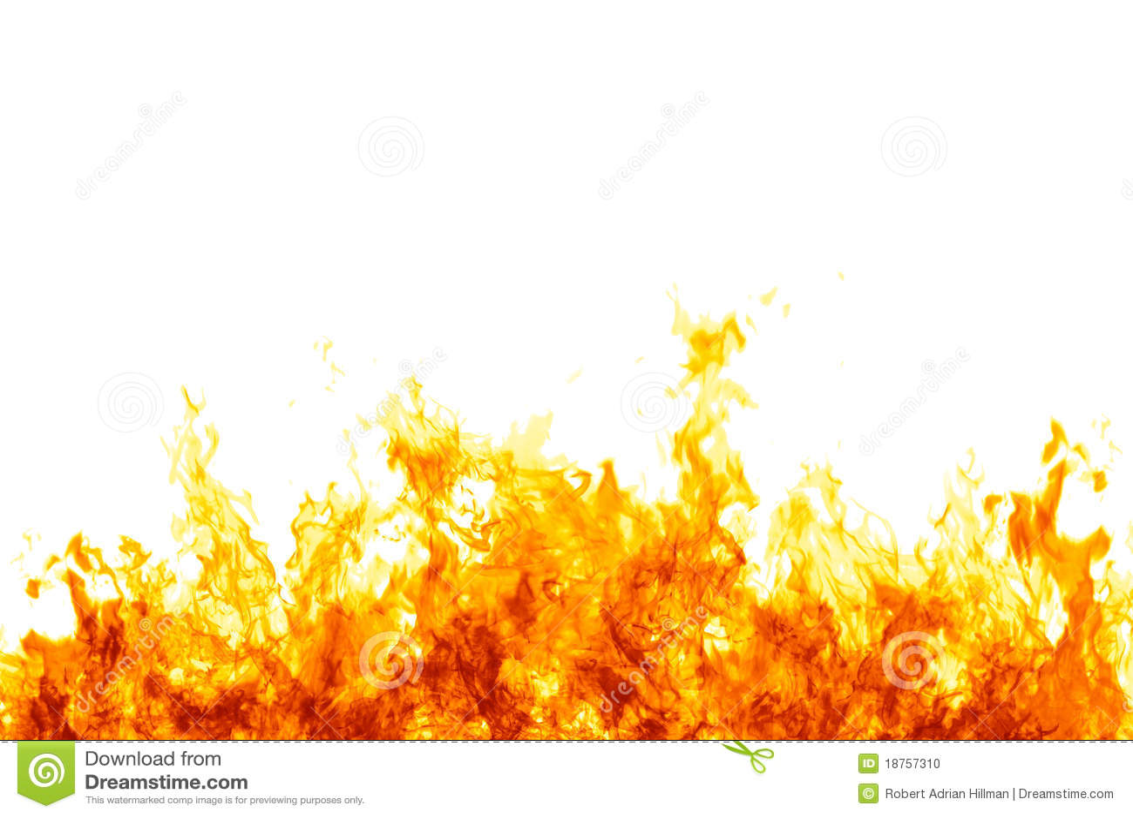 Flammes sur le blanc