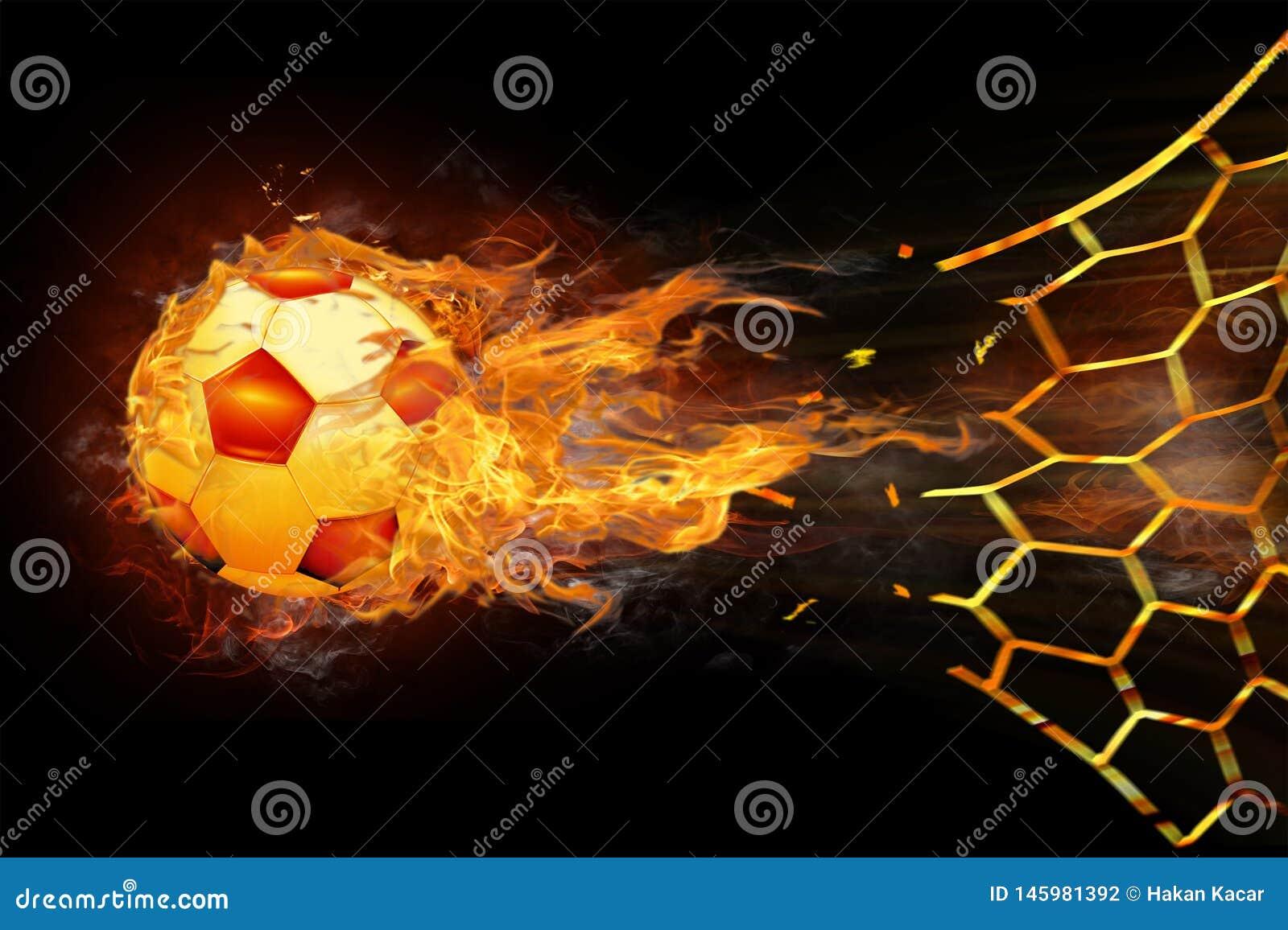 3D rendering, soccer ball.