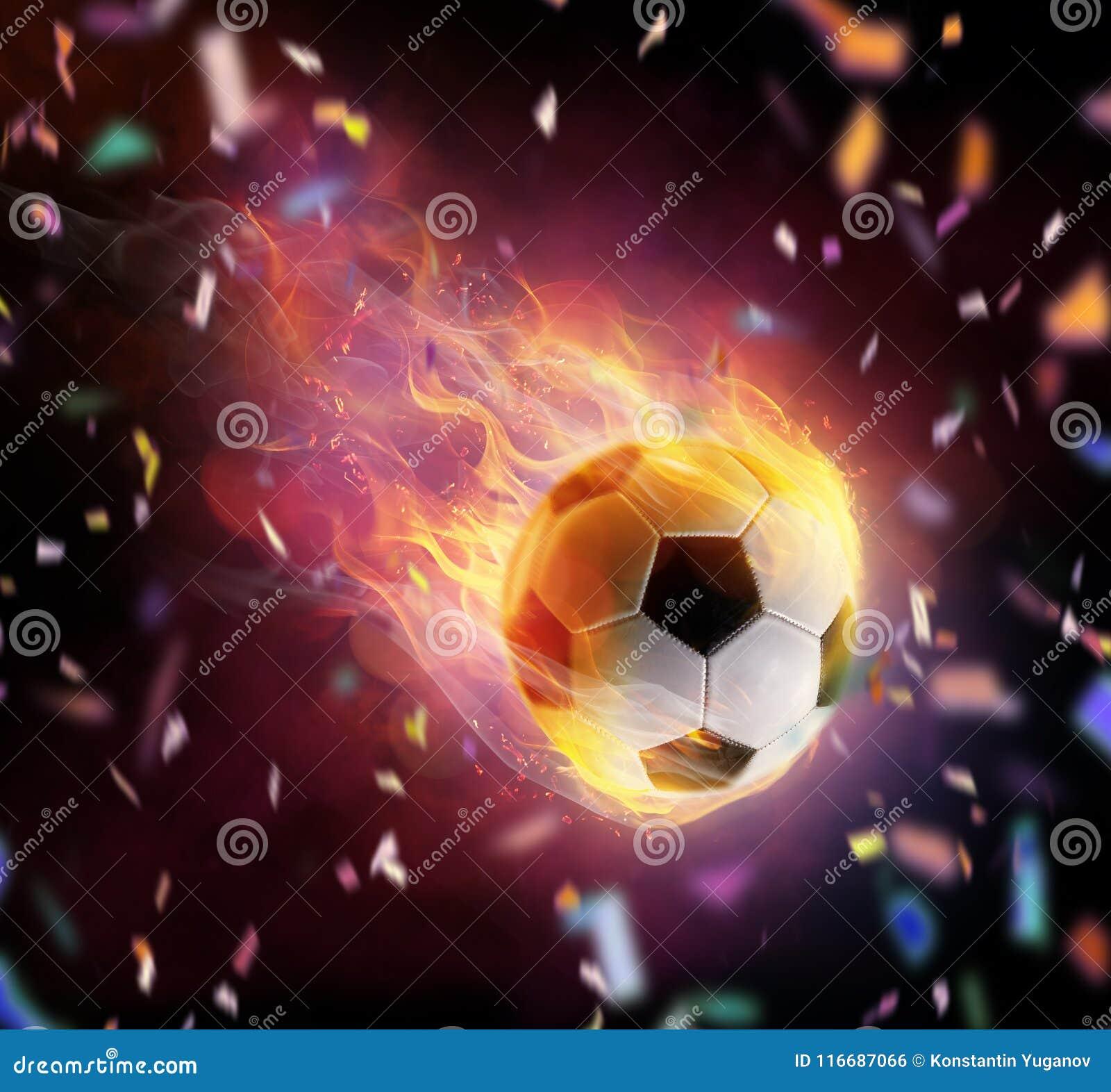 Flamy Symbol des Fußballballs