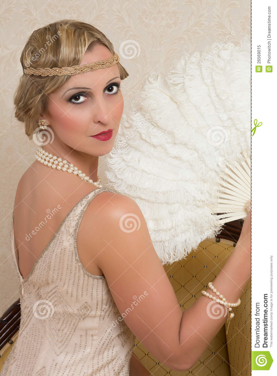 Authentic Flapper Dress Flapper dress and headband